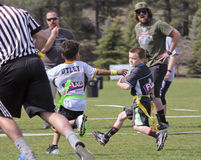 A Flag Football Game for 5 to 6 Year Olds royalty free stock photos