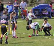A Flag Football Game for 5 to 6 Year Olds Stock Photography