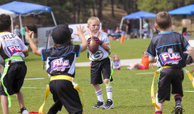 A Flag Football Game for 5 to 6 Year Olds stock photo