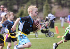 A Flag Football Game for 5 to 6 Year Olds royalty free stock image