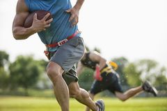 Flag Football Player Run Stock Photos
