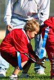 Flag football quarterback Stock Photography