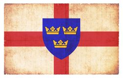 Grunge flag of East Anglia Great Britain Stock Photos