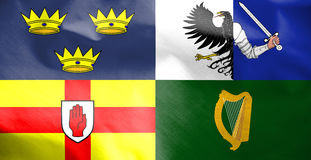 Flag of Four Provinces of Ireland. 3d Rendered Flag of Four Provinces of Ireland Royalty Free Stock Image