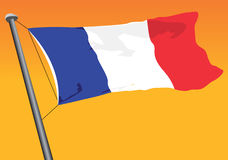 Flag Of France. Vector illustration of the flag of france Stock Photos
