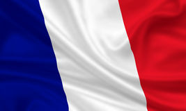 Flag of France. 3d rendered flag of france Royalty Free Stock Photos