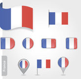 Flag of France. Set vector EPS 10 Royalty Free Stock Image