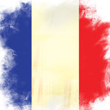 Flag of france. Grunge background edit Royalty Free Stock Image