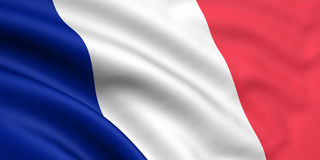 Flag Of France. 3d rendered flag of france