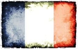 Flag of france. Grunge background edit Royalty Free Stock Photos
