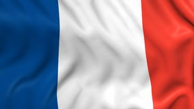 Flag of France stock video