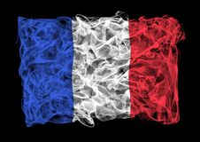 Smoky flag of France Royalty Free Stock Image