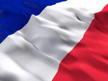 Flag of France. 3d beautiful Flag of France Royalty Free Stock Photography