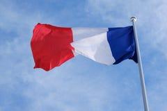 Flag of France on flagpole Royalty Free Stock Image