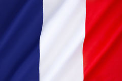 Flag of France. It is known to English speakers as the French Tricolor. Dates to 1790 Royalty Free Stock Image