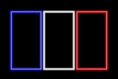 flag france neon 库存图片