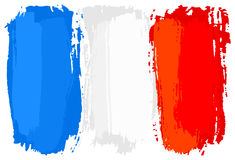 Flag of France painted with brush strokes. Vector illustration of a flag of France painted with brush strokes Royalty Free Stock Photography