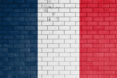 Flag of france painted. Stock Image