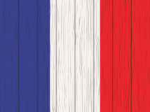 Flag of France. Painted on a wooden wall Royalty Free Stock Photos