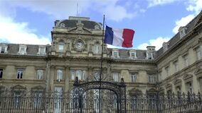 Flag of France at the Prefecture de Lille building