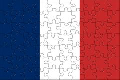 Flag of  France puzzle Royalty Free Stock Photography