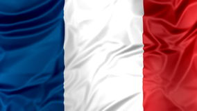 Flag of France waving stock video footage