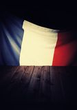 Flag of the France with wooden boards. Royalty Free Stock Image