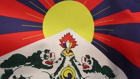Flag of Free Tibet. The Tibetan flag (snow lion flag) was introduced by the 13th Dalai Lama in 1912. Since the 1960s, it is used a symbol of the Tibetan vector illustration