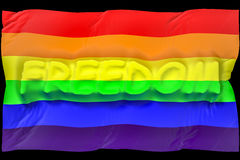 Flag freedom gay Royalty Free Stock Photo