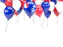Flag of french southern territories on balloons Stock Photography