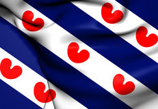 Flag of Friesland Royalty Free Stock Photo
