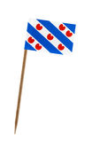 Flag of Friesland. Tooth pick wit a small paper flag of Friesland Stock Image