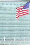Flag in front of a building Royalty Free Stock Photos