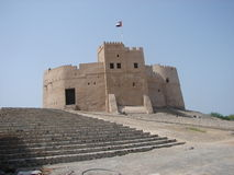 Flag on Fujairah Castle Stock Images