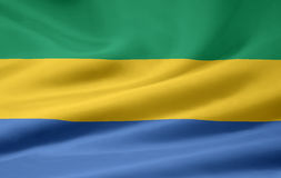 Flag of Gabon. Very large version of a gabonese flag Stock Photography