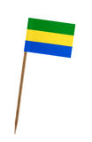 Flag of Gabon. Tooth pick wit a small paper flag of Gabon Stock Images