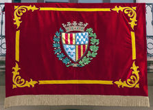 Flag gala Badalona in Diada Royalty Free Stock Images