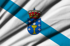 Flag of Galicia. High detailed waving flag of different countries from all over the world Royalty Free Stock Photography