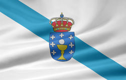 Flag of Galicia - Spain. Very large flag of the spanish province of Galicia Stock Photos