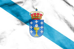 Flag of Galicia, Spain. Royalty Free Stock Photos