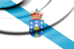 Flag of Galicia, Spain. Royalty Free Stock Photography