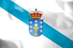 Flag of Galicia, Spain. Stock Image