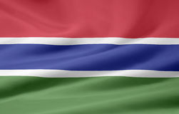 Flag of Gambia Royalty Free Stock Image