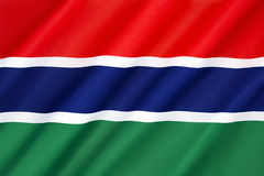 Flag of the Gambia Royalty Free Stock Images