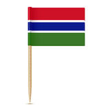 Flag of Gambia. Flag toothpick 10eps Stock Photography