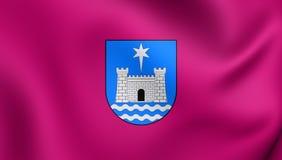 Flag of Gandia City Valencian Community, Spain. Stock Photos