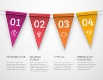 Flag garland infographics Royalty Free Stock Photography
