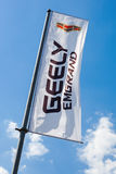 Flag of Geely over blue sky Stock Image