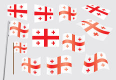 Flag of Georgia. Set of flags of Georgia vector illustration Stock Photography