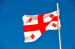 Flag of Georgia Royalty Free Stock Photography